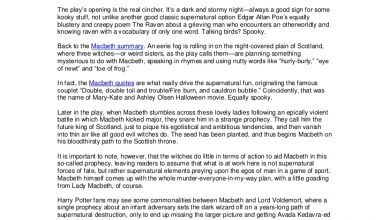 Photo of Double Double, Toil and Trouble: Assessing the Supernatural Through the Macbeth Summary and Quotes