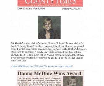 All Author Interviews Award-Winning Children's Author, Donna McDine