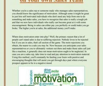 The Importance of Motivation on Your Sales Team